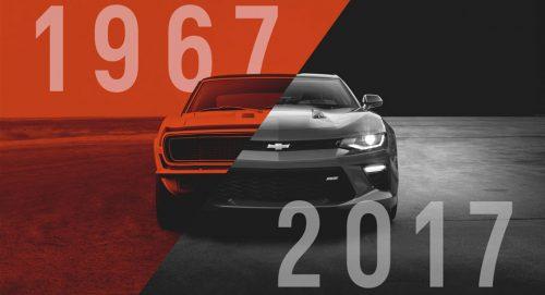 Chevrolet празднует 50-летие легендарной Camaro
