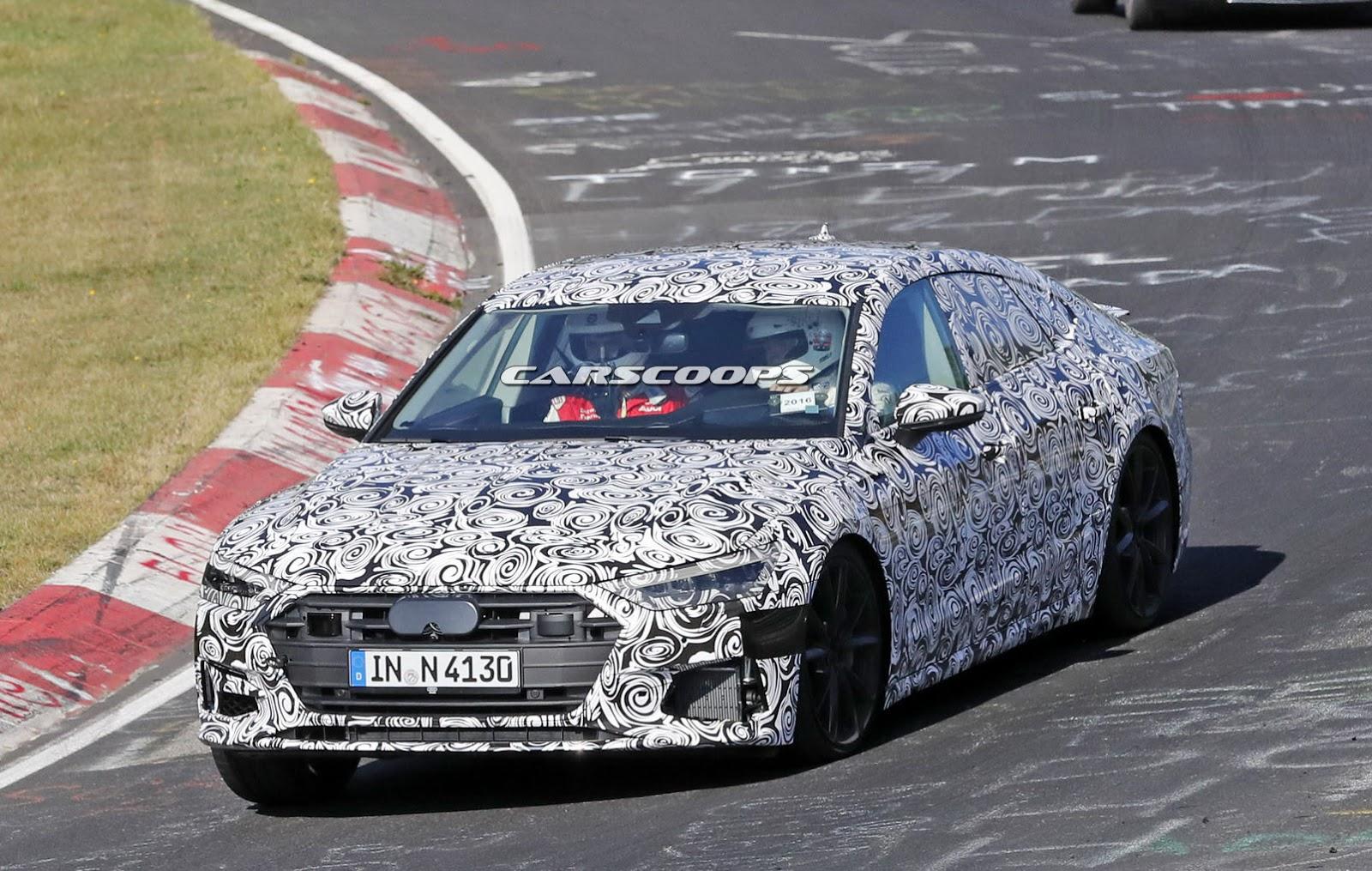 Новая 2018 Audi S7 на Нюрнберг-ринге