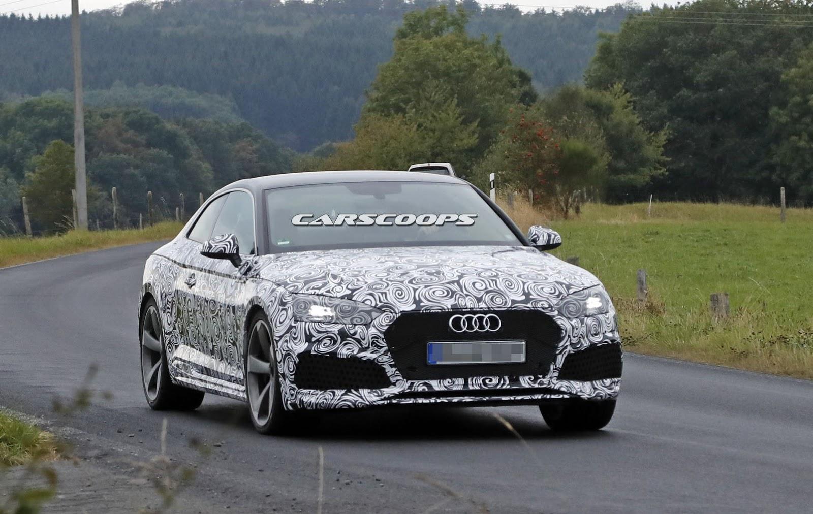 В объективы попала новая Audi RS5 Coupe