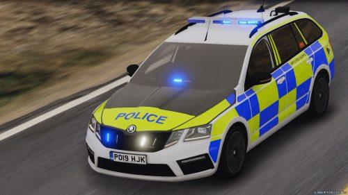 Skoda Octavia на страже закона в Великобритании